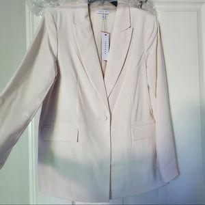 NWT Women's Top Shop Ivory Crepe Blazer, Size 10